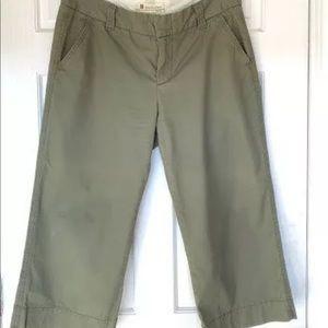GAP Favorite Chino Olive Green Cropped Pants